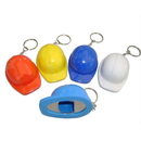 Blank Mini Hard Hat Keychain w/ Bottle Opener