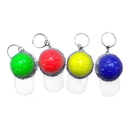 Custom Mini Baseball Cap Light Up Key Ring, Silk Screen