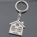 Custom Stainless Steel House Keychain, Silk Printed, 1 6/10