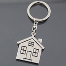 Blank Stainless Steel House Keychain, 1 6/10