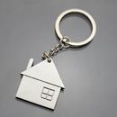 Blank House Shaped Keychain, 1 6/10
