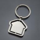 Custom House Shaped Keychain, hollow texture, Silk Printed, 1 8/10
