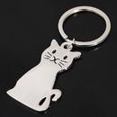 Custom Metal Cat Shaped Key Chain, Laser Engraved