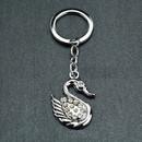Blank Novetly Rhinestone Swan Shaped Key Chain