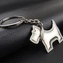 Custom Mini Puppy Metal Key Chain, Laser Engraved