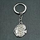 Custom Rhinestone Fish Shaped Key Chain, Laser Engraved