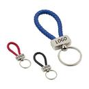 Custom Braided Leather Key Chain