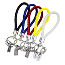 Custom Braided Leather Key Chain with Rectangle Metal Tag