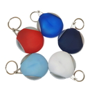 Blank Microfiber Cleaning Cloth Rubber Holder Key Chain, 2 1/4