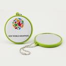 Custom Pocket Plastic Mirror Key chain, 2 1/4