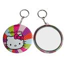 Custom Pocket Tin Mirror Key chain, 2 1/4