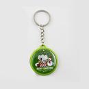 Custom Promotional Gift Plastic Key chain, 1 1/2