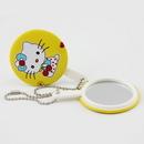 Custom Beauty Mirror With Ball Chain, 3 1/8