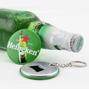Custom Tin bottle opener keychain, 2 1/4