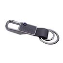 Custom Cool Anchor Metal Key Chain W/ Blue Rhinestone, Hot Stamping or Embossing