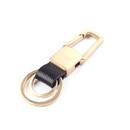 Custom Zinc Brass Metal Key Chain W/ 2 Detachable Rings, Laser Engraved