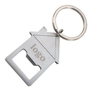 Custom House Shaped Bottle Opener W/ Split Key Ring, 3-1/2