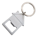 Blank House Shaped Bottle Opener W/ Split Key Ring, 3-1/2
