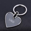 Custom Heart Shaped Keychain in Polished Chrome Finish, 1.75