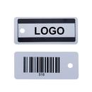 Custom Rectangle Plastic Key Tag, 1 1/8