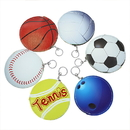 Blank Tennis, Bowling, Soccer, Basketball, Volleyball, Baseball, Football Shape Keychain, Coin Purses, 5
