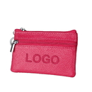 Custom RFID Blocking Zipper Pouch Coin Purse Wallet with Key Ring, 4-1/2