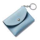Blank Leather Coin Purse Wallet Card Case Holder w/ Key Ring, 4-2/5
