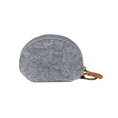 Blank Felt Coin Purse Zipper Pouch Key Chain, 3-3/4