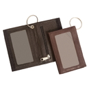 Blank PU leather Double Id Holder with Key Chain, 4-3/8