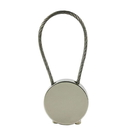 Custom Round Cable Closure Zinc Alloy Keychain, 1