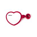 Custom Heart Shape Stethoscope ID Tag - Red, 2 3/4