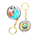 Custom Metal Casino Poker Chip with Plastic Case Keychain, 1.6