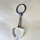 Custom Love Heart Shape Crystal Keychain, 1.2