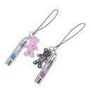 Hourglass Key Chain with Bears, Couple Keychain, Perfect Anniversary Gift, 1 Pair