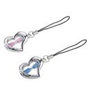 Hourglass Love Heart Shape Key Chain, Perfect Valentine's Day Gift, 1 Pair
