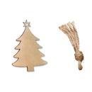 (Pack of 10PCS) Christmas Tree Wood Hanging Plaque, Angel Deer Bird Series Slices for DIY Craft, Wedding, Festival