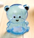 Blank Translucent Color Bear Shaped Money Bank - Long Leadtime