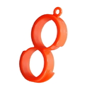 Blank Number 8 Shape Orange Peeler, Large Citrus Peeler, 2.3