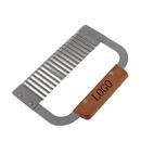 Custom Wooden Handle Corrugated Cutting Device Potato Cutter, 7-1/4