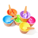 Custom Ice Cream Bowls Snack Bowls Dessert Bowls with Spoon, 3.86
