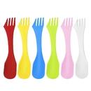Blank Reusable 3 In 1 Multi-Functional Plastic Knife Fork Spoon for Kids for Travel