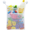 Blank Four pockets Bath Organizer with 2 Bonus Strong Hooked Suction Cups, White, 18