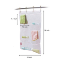 Blank Polyester Mesh Bath Organizer with Pockets, White, 26