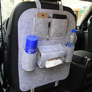 Blank Car Seat Back Multi-Pocket Hanging Holder Storage Felt Bag Organizer, 16