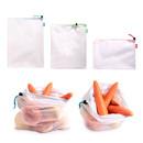 10 Pack White Fridge Vegetable/Fruit Storage Bag, Reusable Grocery Mesh Bag
