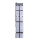 Aspire Shoe Organizers 12 Large Mesh Pockets in Black White Clear Over the Door Hanging Shoe Storage