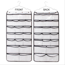Aspire 42 Pockets Hanging Wall Door Closet Organizer Household & Children Accessories Durable Double-sided Folding Travel Storage Bag Saves Space