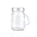 Promotional 3.52oz Empty Glass Jar w/ Handle, Imprint Logo on the Lid, Long leadtime