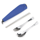 Blank Traveling Flatware Set with Zippered Bag, 8 1/2