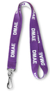 Custom Text Woven-in Lanyard with Logo, 5/8